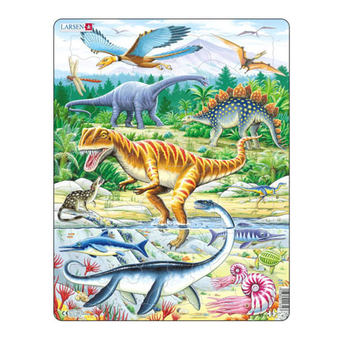Image For Dinosaur 35 Piece Children's Puzzle by Larsen