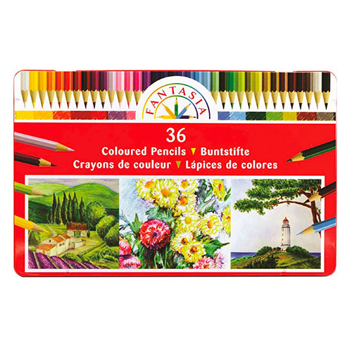 Cover Image For Assorted Colored Pencils by Fantasia - Set of 36