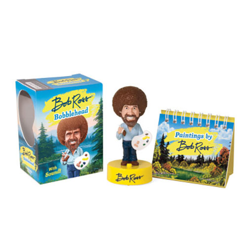 Image For Bob Ross Talking Bobblehead from Running Press