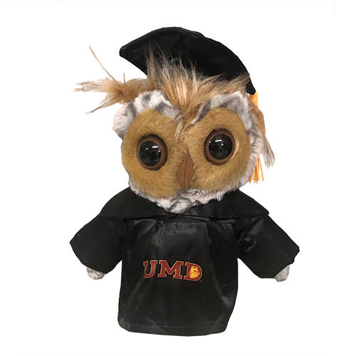 "Cover Image For UMD Plush Graduation Owl 9"" by Jardine"