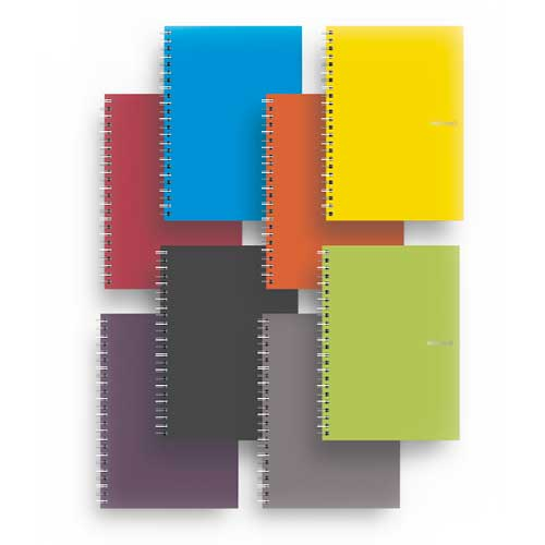 Image For EcoQua A5 Spiral Bound Notebook Blank by Fabriano