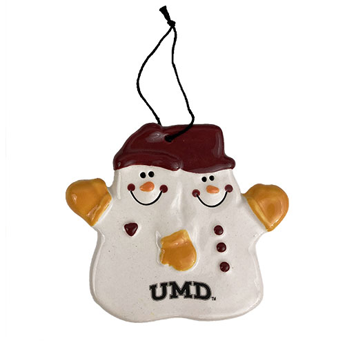 Image For *UMD Snowman Ceramic Ornament by Spirit - Double the Fun