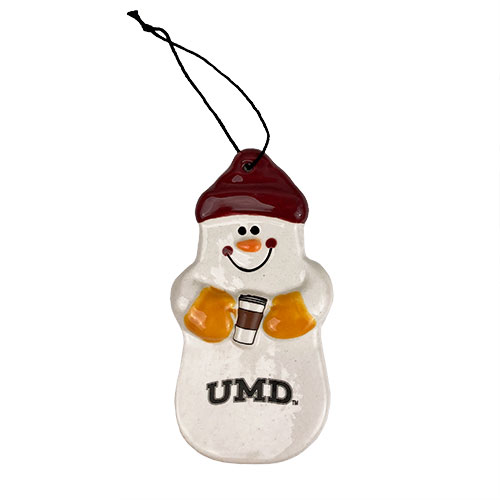 Image For *UMD Snowman Ceramic Ornament by Spirit - Coffee Time