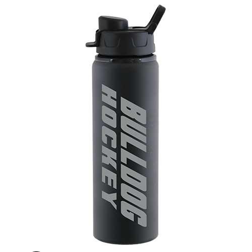 Image For *Bulldog Hockey Aluminum Water Bottle by Spirit - Black