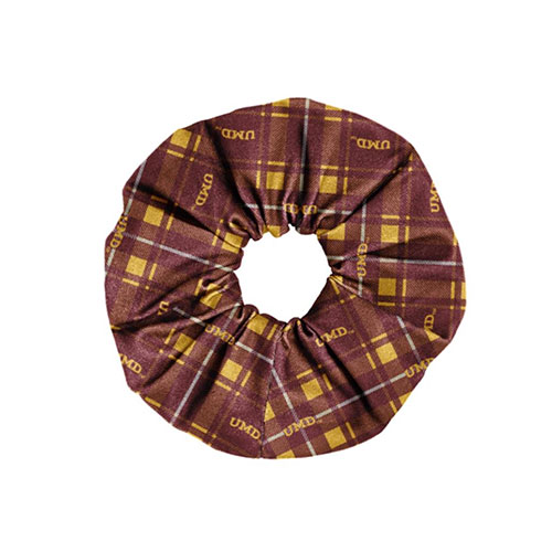 Image For *UMD Plaid Spirit Scrunchie by Legacy