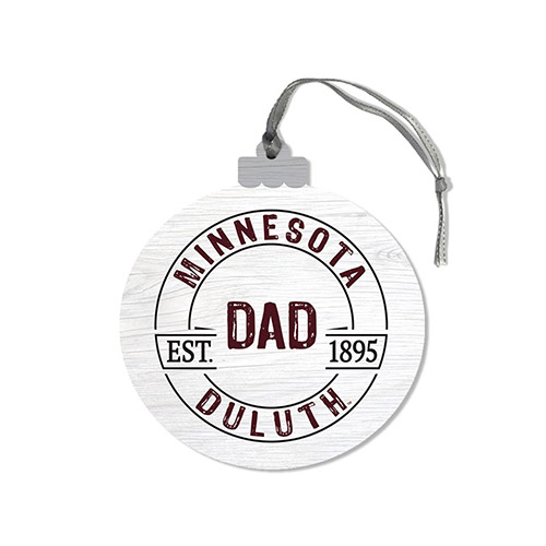 Image For *Minnesota Duluth Dad Wood Ornament by Legacy