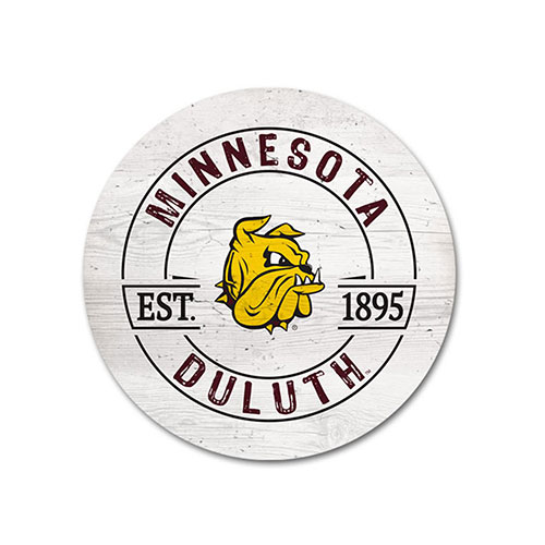 Image For *Minnesota Duluth Bulldog Head Round Coaster by Legacy