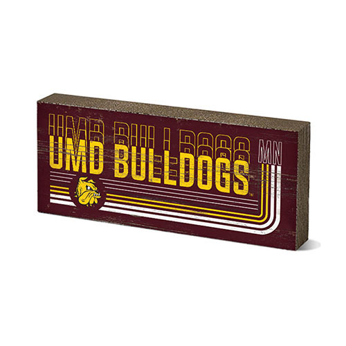Image For *UMD Bulldogs MN Stripe Mini Tabletop Stick 2.5x6 by Legacy