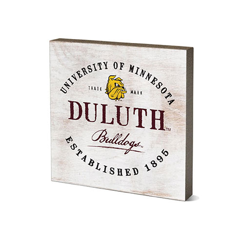 Image For *Duluth Bulldogs Script Tabletop Square 5.5x5.5 by Legacy
