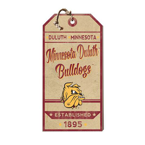 Image For *Minnesota Duluth Bulldogs Hanging Tag Sign by KH Sports Fan