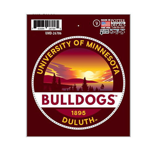 "Image For *Bulldogs Duluth Nature Decal 3.5"" by Potter Decals"
