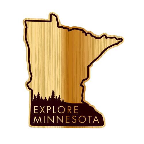 "Image For *Explore Minnesota Wood Decal 3"" by Potter Decals"
