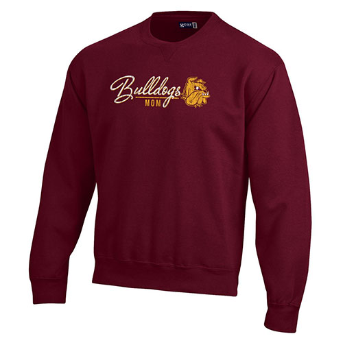 Image For *Bulldogs Mom Big Cotton Crew Sweatshirt by Gear