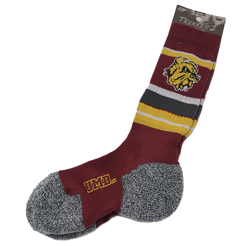 Image For *Bulldog Head Wool Blend Trekker 2 Socks by FBF