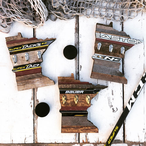 Image For *Hockey State Key Hanger by Great Lakes Hockey - 12""