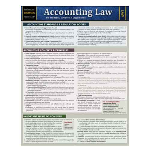 Image For Accounting Law by Barcharts Inc