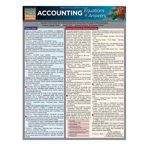 Image For Accounting Equations & Answers by Barcharts Inc.